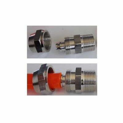 """Fitting Soft Tube OD 5/16"""" or 8mm Pneumatic Quick Connect to Metric M12x1.0 Male"""