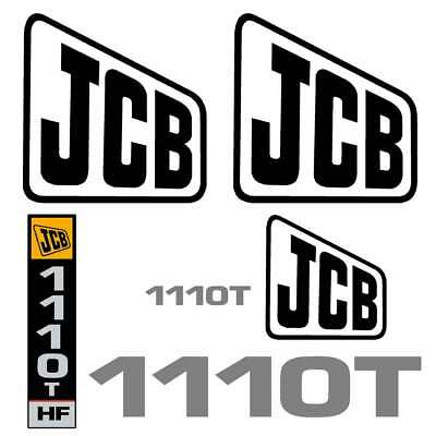 JCB 1110T Decals  - Repro Decal Stickers Kit