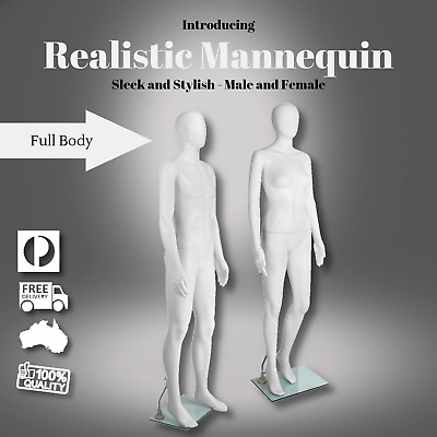 Female Male Mannequin Full Body Clothes Display Showcase Commercial Detachable