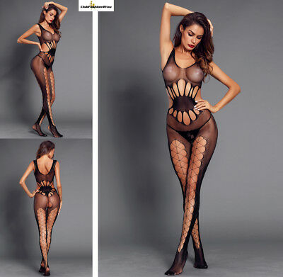 Hot Reizwäsche Fishnet Body Stocking Catsuit Netz Body Unterwäsche |H| 790003-2
