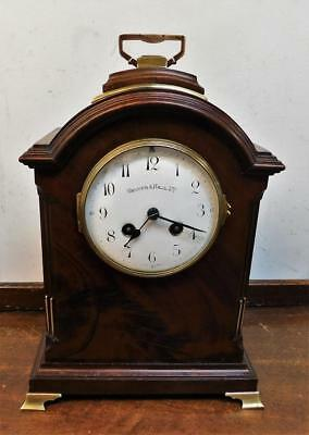 french mahogany cased bracket clock