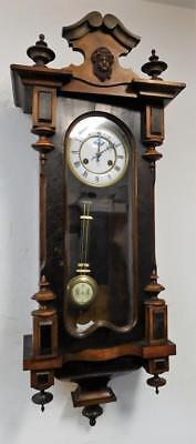 nice quality walnut cased striking vienna wall clock by junghans