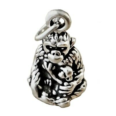 Gorilla 925 Sterling Silver Dangle Charm Carrier Bead Monkey Ape
