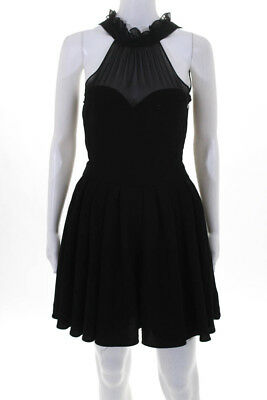 4e0f73b19c BLAQUE LABEL WOMENS Sleeveless Halter Dress Black Size Small ...