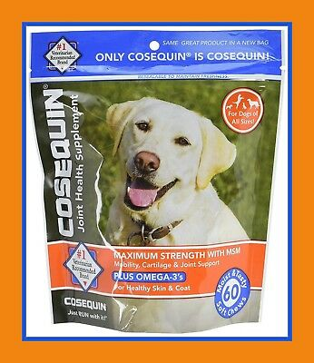 2 PACK - Cosequin Maximum Strength Joint Soft Chews w Omegas with MSM, 120 Count