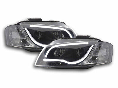 Scheinwerfer Set Daylight LED TFL-Optik Audi A3 8P/8PA Bj. 03-08 schwarz