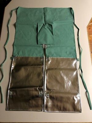 welding apron/chaps, green cloth with other protective materials,new