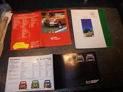 Lot 3 Grands Anciens Catalogues  Mini British Leyland Austin Morris