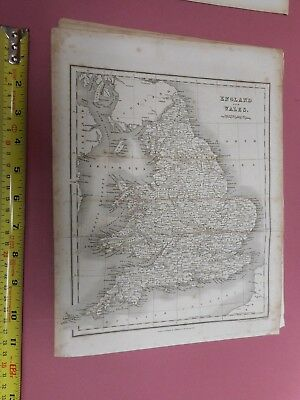 100% Original England And Wales  Map By Orr/dower C1828 Vgc Low Start