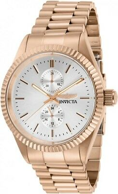 Invicta Men's Specialty Silver Dial Rose Gold Tone Stainless Steel Watch 29433