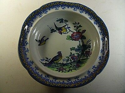 Antique Copeland Spode Spring Salad Or Fruit Bowl.Hand Painted Pheasants.739640