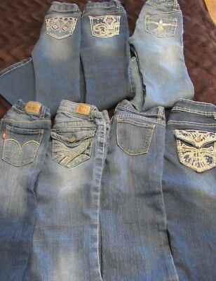94761825145 Lot of Girls Size 7 Jeans, Lei, Levi's, Old Navy, Cherokee,