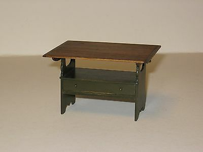 Dollhouse Miniature Hutch Table in 1/12th scale - Colonial - Early American