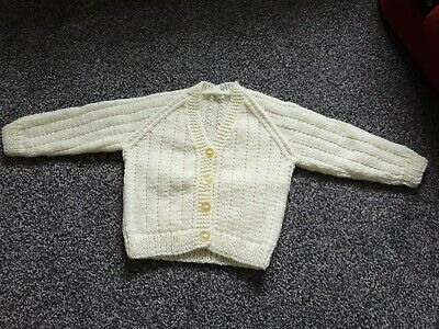 Brand new hand knitted baby cardigan 3-6 months