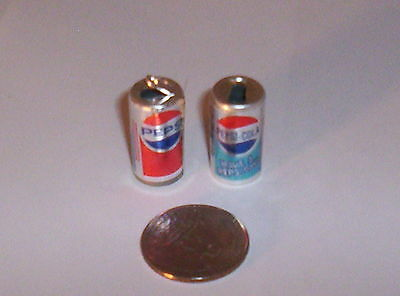 2 Vintage Pepsi Cola Soda Can Gumball Vending Charms Crafting Jewelry Etc