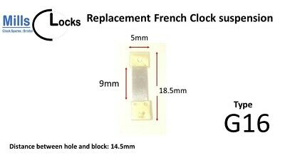 French Clock Pendulum Suspension Spring. (18.5mm x 9mm x 5mm)  (Type G16)