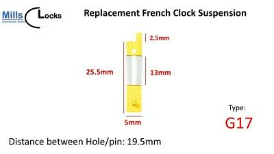 French Clock Pendulum Suspension Spring. (22mm x 10.5mm x 4.5mm)  (Type G17)
