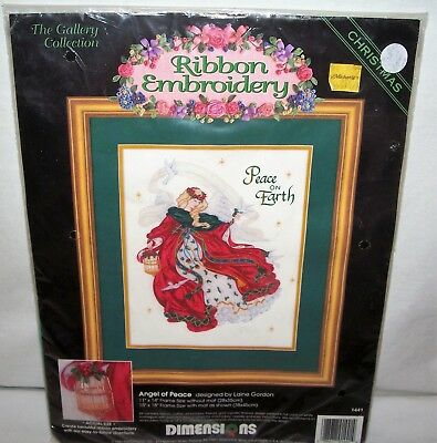 Dimensions Christmas Ribbon Embroidery ANGEL OF PEACE Kit #1441 NEW