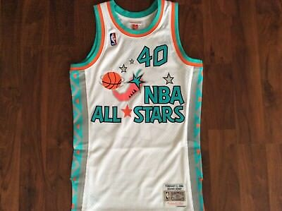 86db7a206d1 Shawn Kemp Mitchell and Ness Small Swingman All Star Jersey 1996 West  Seattle