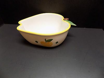 Chaparral Pottery Apple Shaped Serving Bowl, Yellow Apples-NICE!