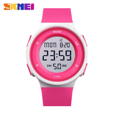 SKMEI Men Women Digital Outdoor Sports Wristwatch 50m Waterproof Watch 1445 29B