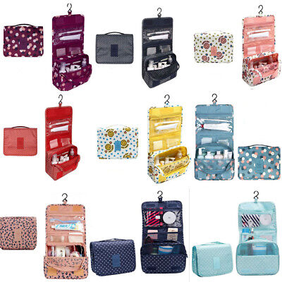 Women Travel Storage Bag Wash Hanging Cosmetic Foldable Portable Finishing Pouch