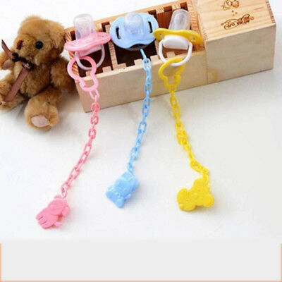 Kids Baby Dummy Pacifier Soother Nipple Bottle Strap Chain Clip Holder New 1pc