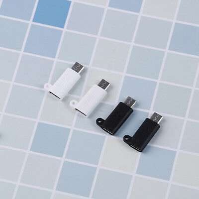 2Pc Micro USB2.0 TypeB Male To USB3.1 TypeC Female Data Charge Converter Adapter