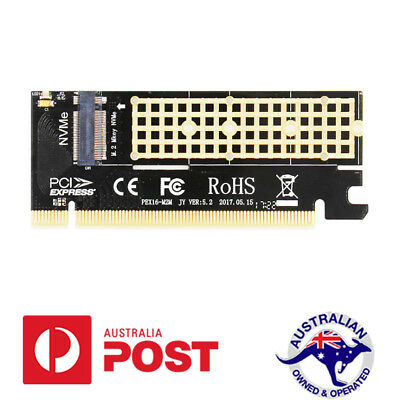 Pro M.2 NVMe SSD NGFF TO PCIE 3.0 X16 X4 Adapter M Key Interface Card Full Speed