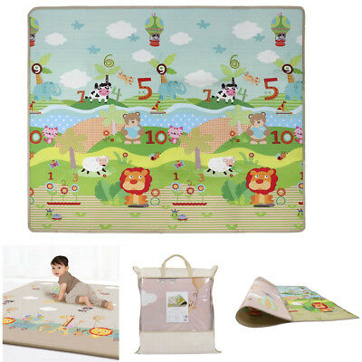200X180Cm 2 Side Kids Crawling Educational Game Baby Play Mat Soft Foam Carpet