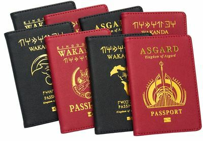 0442a9a27128 Marvel Wakanda Passport Cover Asgard Passport Case Passport Black Panther  Passpo