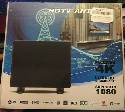 1080P HD Digital Indoor Amplified TV Antenna HDTV with Amplifier VHF/UHF
