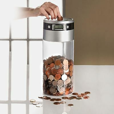 Supersize Digital Coin Counter LCD Display Jumbo Jar Money Box Counts Coins
