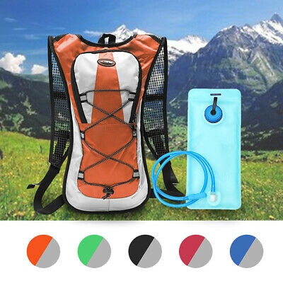5L Hiking Camping Cycling Running Hydration Pack Backpack Bag + 2L Water Bladder