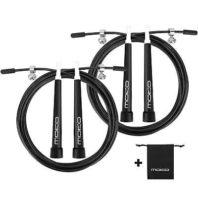 MoKo Speed Jump Rope,Adjustable Pro Crossfit Training PVC Fitness Skipping Cable