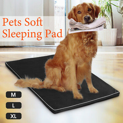 5cm M L XL Memory Foam Dog Bed Pet Cat Mattress Pad Mat Summer Winter Cushion AU