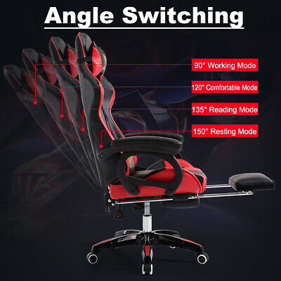 PU Leather Gaming Racing Office Computer Chair Sport High Back Executive Seat AU