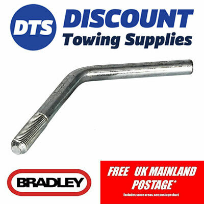 Bradley Replacement Jockey Wheel Handle For HU12 Trailer Couplings