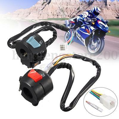 "12V DC 7/8"" Motorcycle HandleBar Turn Signal Light Indicator Horn Control Switch"