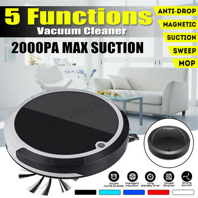 5-in-1 Smart Clean Robot Vacuum Cleaner Automatic Floor Sweeper 2000PA / 800PA