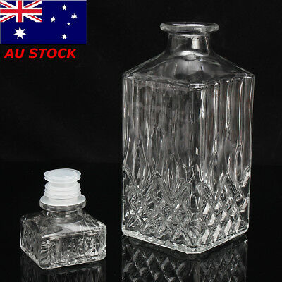 AU 900ml Vintage Decanter Glass Liquor Whiskey Crystal Bottle With Stopper