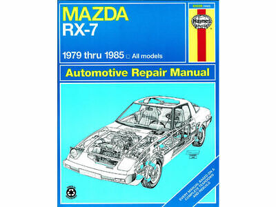 paper repair manual for 79-85 mazda rx7 s gs gsl limited edition gsl-
