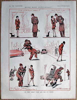 FOURNIER 1927 Vintage La Vie Parisienne Cartoon Print FLAPPER GIRL SCOTTY DOG