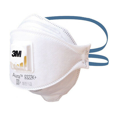 3M Aura 9322K+ Dust Paticulate Respirator Mask with Cool Flow Valve FFP2 10pcs