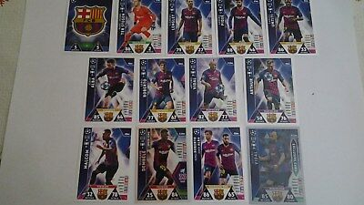 Lote Topps Match Attax Champions League 2018 2019 Equipo Barcelona Con Exclusive