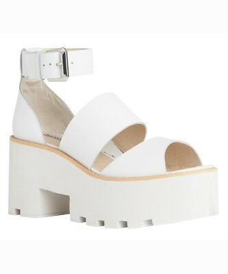 Windsor Smith Sandalo Fluffy Emmy Puffy Inka Ines Platform Zeppa Bianco Nero