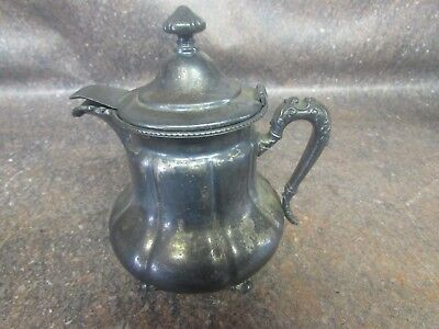 Antique Forbes Silver Co Silver Plated Ornate Creamer/Syrup Pitcher (P7)