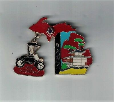 Vintage C:1970-1980 Lions Club Pin Japan 1902 Oldsmobile Dangler