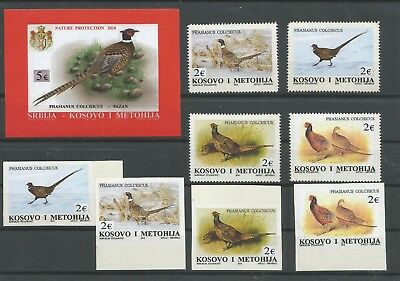 Kosovo 2018 - Fauna - Block , perf. and imperf. sets MNH