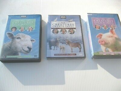 Lot 3 All Creatures Great & Small DVD Sets: Complete Series 6 + 7 + Specials